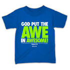 "NEW!! ""Awe in Awesome"" Toddler & Boys Royal Blue Kerusso T-Shirt"