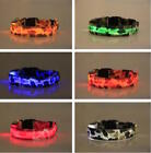 USB RECHARGEABLE LED CAMO COLLAR Camouflage Pet Dog Glow Flashing Light Safety