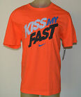 New NIKE KISS MY FAST ACTIVE RUNNING TRAINING Mens X-LARGE ORANGE T-Shirt 638769