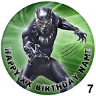 Black Panther Cake Topper Circle Round Icing Sheet Personalised