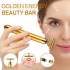 Gold Beauty Bar Massager Facial Face Roller Anti-Ageing Wrinkle Eye Bag Remover
