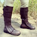 Brown Serenity Firefly Cosplay Space Pirate Steampunk Mens Costume Boots Shoes