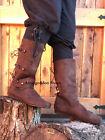Внешний вид - Brown Renaissance Fair Viking Ragnar Scottish Peasant Mens Costume Shoes Boots