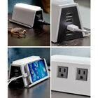 USB Surge Protector Charger Power Strip with 2 AC Outlets 4 USB Port & LED Light