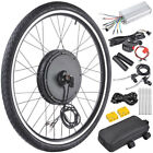 "26"" Electric Bicycle Motor Conversion Kit Front Rear Wheel E Bike Hub 500W 1000W"