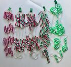 New Vintage Style Peppermint Garland Fake Candy Canes Trees Wreath Arrangement