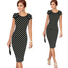 Elegant Womens Office Formal Business Work Party Sheath Tunic Pencil Mini Dress
