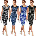pencil works - Elegant Womens Office Formal Business Work Party Sheath Tunic Pencil Mini Dress
