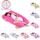 Maternity Pregnancy Boyfriend Arm Body Sleeping Pillow Covers U Shape Cushion image
