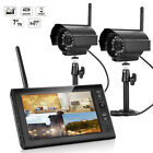 4CH HDMI Outdoor Video Wireless 1x2x4 CCTV DVR Cameras Home Security System Kit New