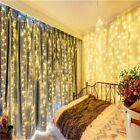 304LED Curtain Fairy String Lights Wedding Party Xmas Decor Waterfall Waterproof