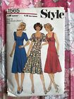 STYLE 1565 sewing pattern 1976 COMPLETE vintage retro Misses Dress 1970s
