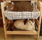 Miniature Bunk Bed for Cats/Dolls/Puppies/Small Dogs:Includes Pillows & Blankets