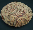 We601n Paisley Leaf Chenille Round Shape Box Seat Cushion Cover Case*Custom Size