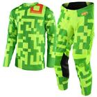New TROY LEE DESIGNS TLD18 MX GP AIR MAZE FLO YELLOW Jersey Pants Outfit MX TLD