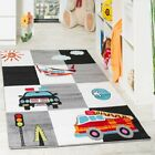 Children High Quality Soft Rug Bedroom Police Car Nursery Low Pile Play Mat