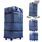 30' Blu Rolling Wheeled Duffle Duffel Bag Spinner Suitcase Luggage Expandable