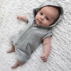 Top Baby Kids Boy Girl Infant Hooded Romper Jumpsuit Bodysuit Clothes Outfit New