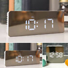 New Hot LED Digital Alarm Clock Night Light Thermometer Display Mirror Lamp Hot