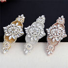 Beaded Crystal Rhinestone Applique for Wedding Dresses Bridal Belts Headpiece