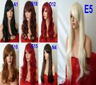 Heat Resist Authentic classic cap Full Wig Fancy Dress up Black Brown Blonde Red