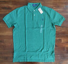 $90 NWT Polo Ralph Lauren Mens Green Heather Classic Fit Polo Shirt Pony Logo