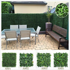 artificial boxwood shrubs - ULAND 12pc Artificial Boxwood Privacy Fence Screen Greenery UV Panels 20