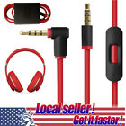 US Replacement Audio Cable L Cord For Beats Dr Dre Headphones Aux inline Mic on