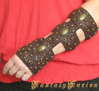 Medieval Steampunk Victorian Goddess Warrior Forearm Leather Bracer Deluxe