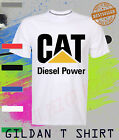 CAT Caterpillar T Shirt Diesell Power Equipment construction miner gear.