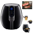 Air Fryer Programmable Quality Made 8 cook presets black fyer Healthy air Fry Fo
