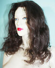 Lace Thin Skin Wig Wigs #2 Indian Remi Remy Human Hair Darkest Brown Body Wave