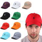 NWT Polo Small Embroidery Pony Baseball Leather Strap Back Adjustable Hats Cap