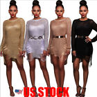 US Women Short Mini Dress Bodycon Bandage Sleeveless Evening Party Cocktail Club