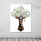 modern wedding guest books - Modern Deer Canvas Fingerprint Painting Signature Wedding Guest Book Sweet