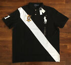 $99 NWT Polo Ralph Lauren Mens Black White Banner Stripe Big Pony Shirt Classic