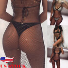 US Women Mesh Bikini Cover Up Swimwear Swimsuit Bathing Suit
