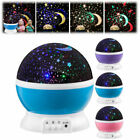 LED Rotating Star Projector Novelty Lighting Moon Sky Rotation Kids Baby Nursery