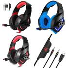 Universal 3.5mm Stereo USB LED Gaming Headset Headphone with Mic for PS4 Xbox On