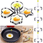 fried egg mould - Kitchen Stainless Steel 4 Shapes Fried Egg Mold Ring Shaper Pancake Ring Tool US