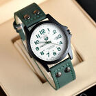 Men's Leather Band Watches 4 Colors WristWatch Military Gift Analog Quartz Date image