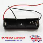 Single Cell AA Plastic Battery Holder Box Storage With Wire Connections DIY G07