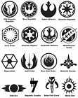 Star Wars Symbols Phone / Window Decal Bumper Sticker 3 sizes Sith Jedi StarWars $3.5 USD on eBay