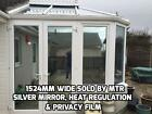 Silver Mirror Glass Conservatory Window Film   Regulate Heat/Cold - DIY - By Mtr