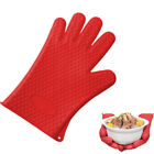 rubber glove holder - Silicone Rubber Heat Resistant Glove Grill BBQ Oven Mitts Pot Holder Mat Tools