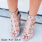 cute cheap high heels - Womens Sandals Pink Ankle Strap Peep Toe Cute Summer Casual High Heels Plus Size