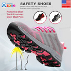 safety toe boots - Womens Fashion Safety Steel Toe Work Boots Breathable Hiking Climbing Shoes