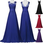 Maxi New Evening Dress Prom Formal Vintage Chiffon Party Long Bridesmaid Gown