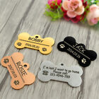 Dog Collar Tag with Bone Shape Personalized Engraved Pet  ID Name Tag 4 Colors