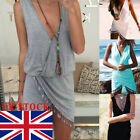 UK New Women Beachwear Swimwear Bikini Beach Wear Cover Up Summer Tassel Dress